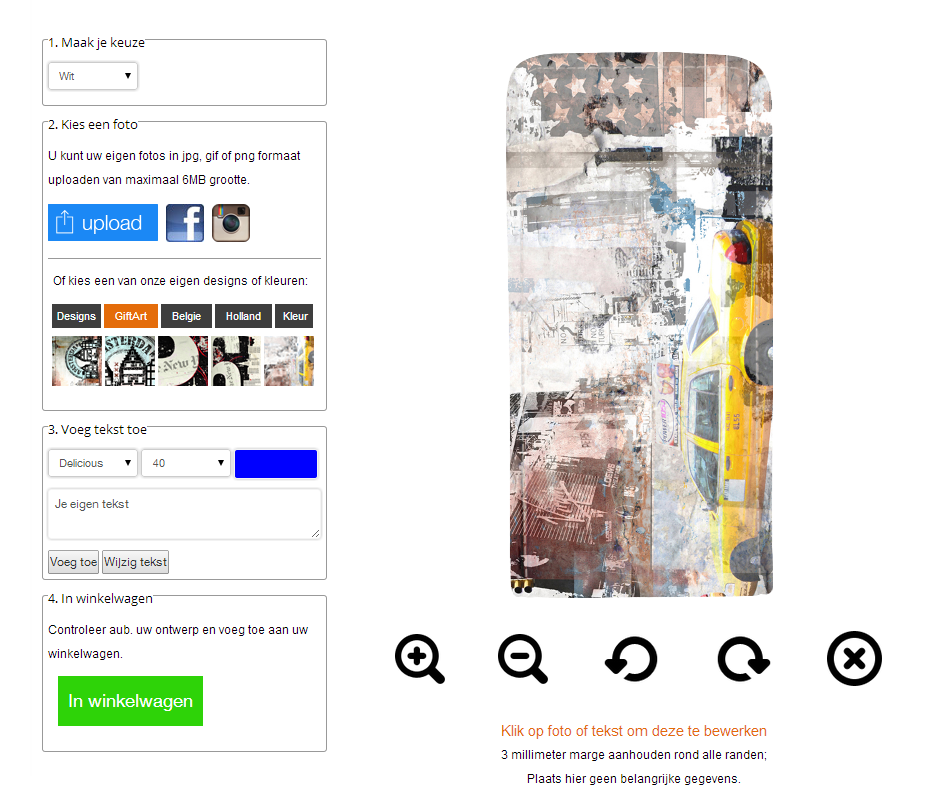 Samsung Galaxy S5 flipcase hoesje ontwerpen