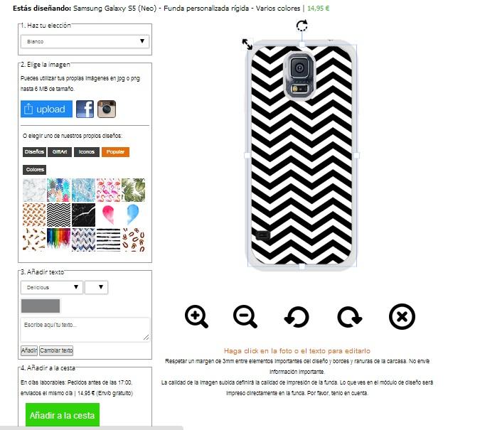 Samsung Galaxy S5 softcase hoesje ontwerpen zwart of wit