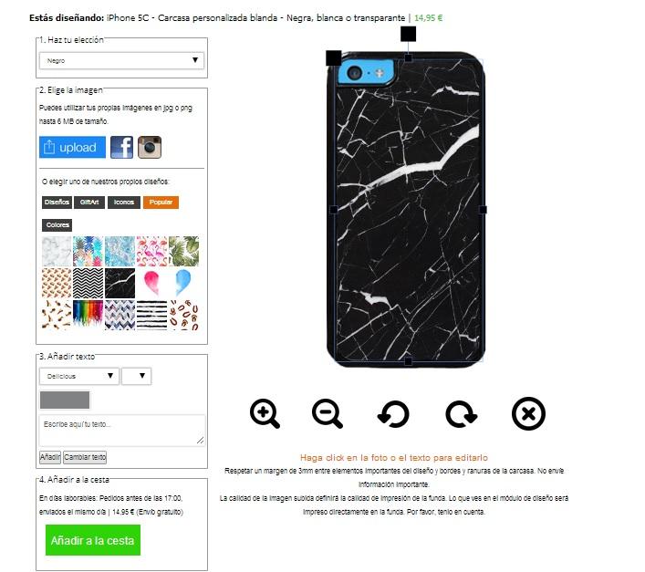 iPhone 5C softcase maken