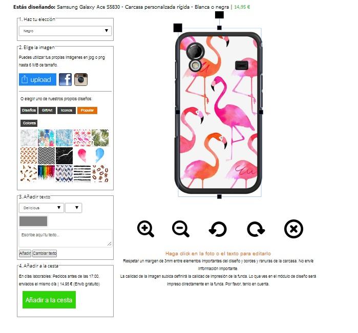 Samsung Galaxy Ace S5830 hoesje ontwerpen