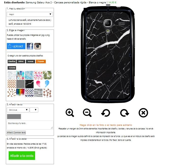 Samsung Galaxy Ace 2 Hardcase hoesje met foto