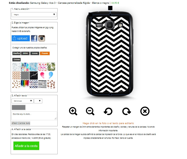 Samsung Galaxy Ace 3 Hardcase hoesje ontwerpen