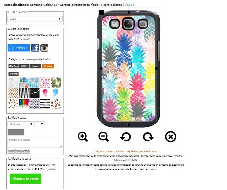 Samsung Galaxy S3 Hardcase hoesje maken