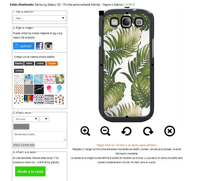 Samsung Galaxy S3 Softcase hoesje ontwerpen zwart of wit
