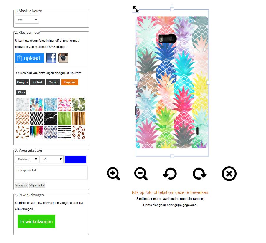 Lumia 930 hoesje ontwerpen