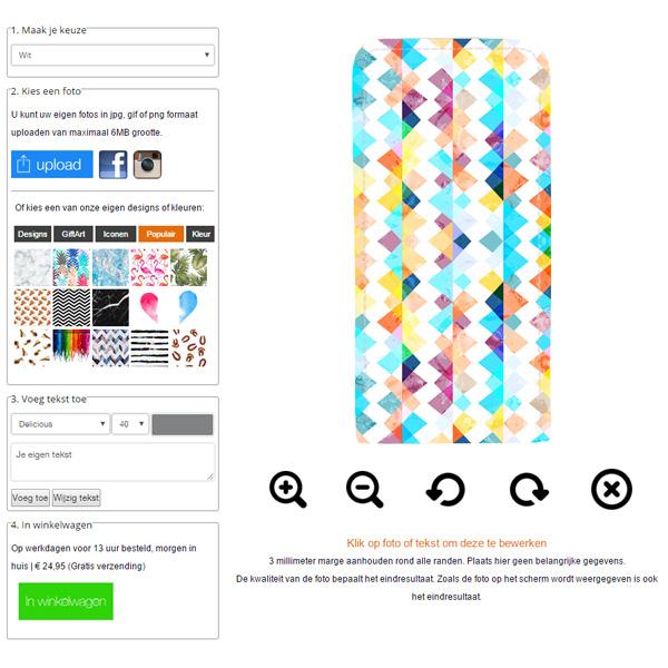 Samsung Galaxy S4 flipcase hoesje ontwerpen