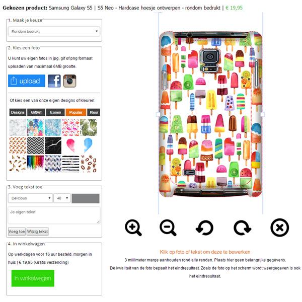 Samsung Galaxy S5 Hardcase hoesje maken