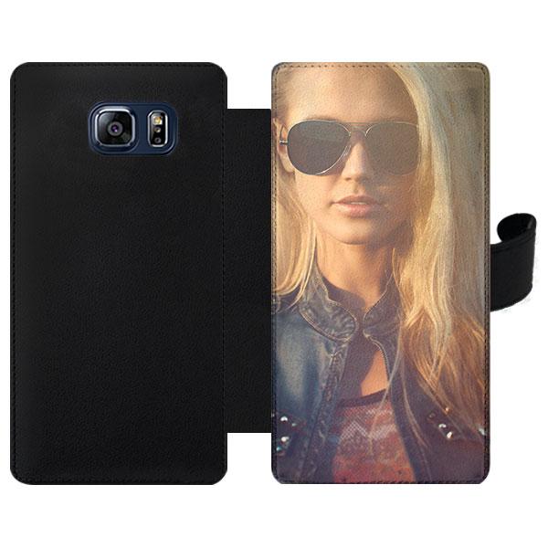 Samsung Galaxy S6 Edge portemonnee hoesje met foto