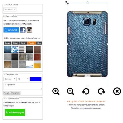 Samsung Galaxy S6 Edge Hardcase hoesje maken