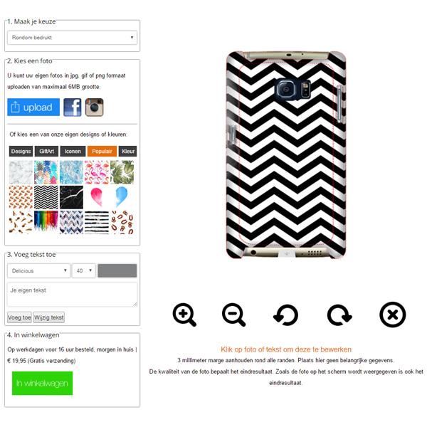 Samsung Galaxy S7 Edge Hardcase hoesje maken