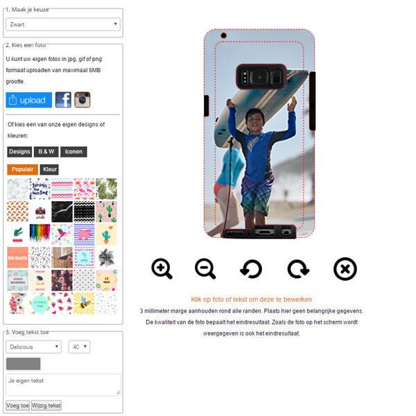 Samsung Galaxy S8 hoesje ontwerpen