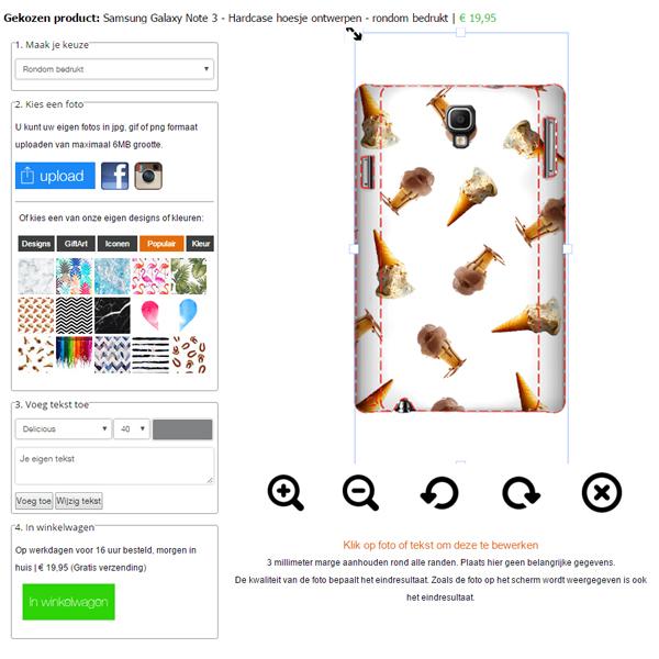 Samsung Galaxy Note 3 Hardcase hoesje ontwerpen rondom bedrukt