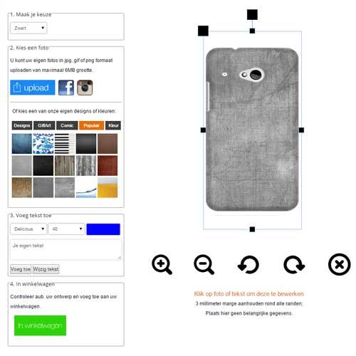 HTC One Mini 2 hardcase hoesje maken zwart