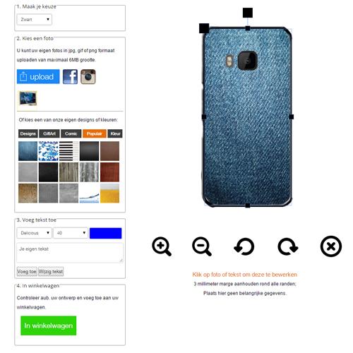 HTC One M9 Hardcase hoesje ontwerpen met foto zwart