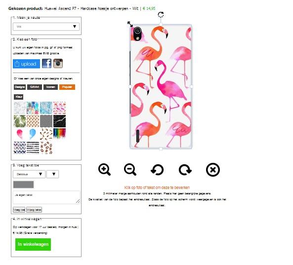 Huawei Ascend P7 Hardcase hoesje ontwerpen - Wit