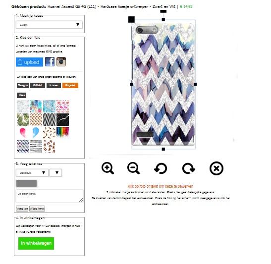 Huawei Ascend G6 hoesje ontwerpen Zwart en Wit