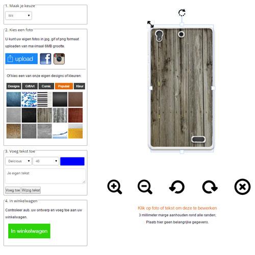 Huawei Ascend G630 Hardcase hoesje met foto Wit