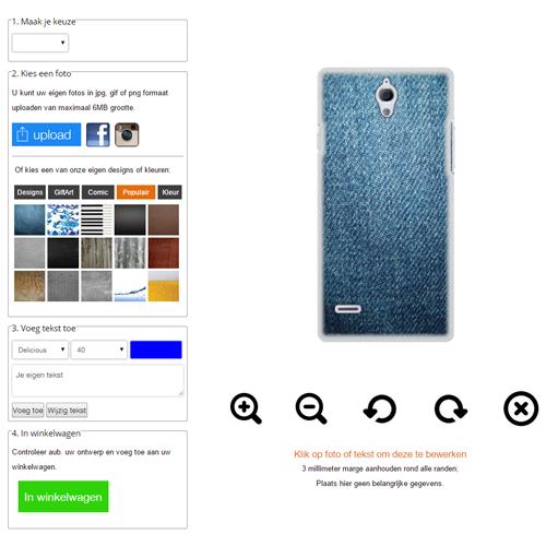 Huawei Ascend G700 Hardcase hoesje met foto Wit