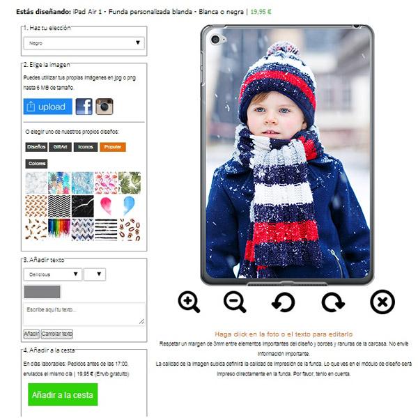 ipad air softcase ontwerpen met foto