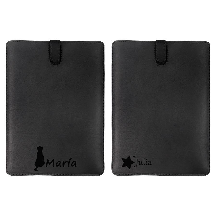 Leren hoesje ontwerpen voor de iPad Mini in het bruin of zwart
