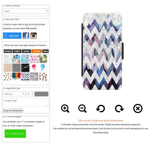 iPhone 4s portemonnee hoesje met foto
