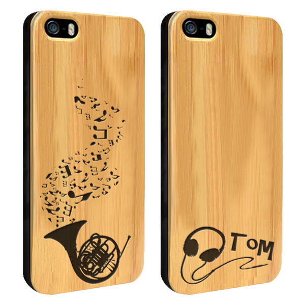 iPhone 5(S) bamboe hardcase maken met gegraveerd design