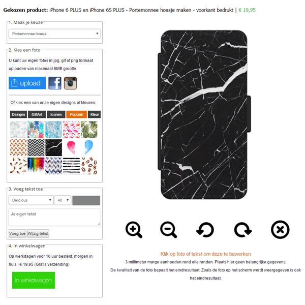 iPhone 6(S) PLUS portemonnee hoesje maken