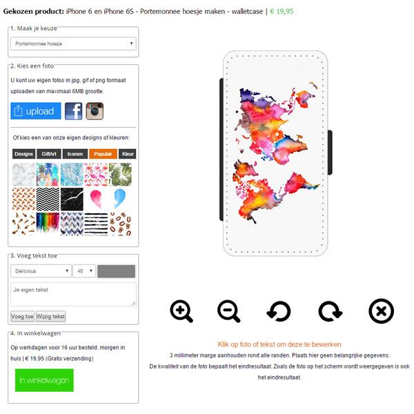iPhone 7 PLUS walletcase maken