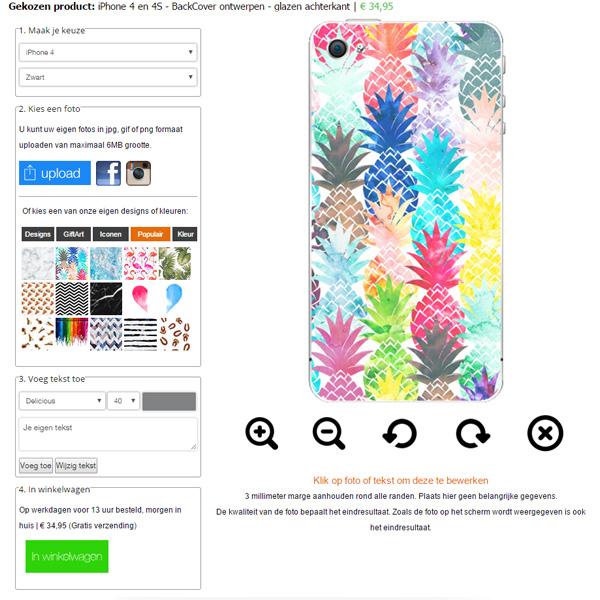 iphone backcover ontwerpen