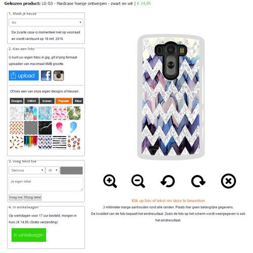 G3 telefoonhoesje met foto