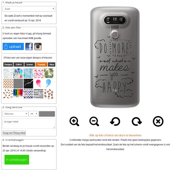 LG G5 hoesje met foto
