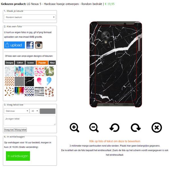 Nexus 5 hoesje ontwerpen