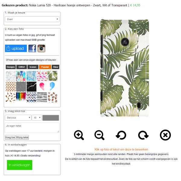 Lumia 520 hoesje ontwerpen
