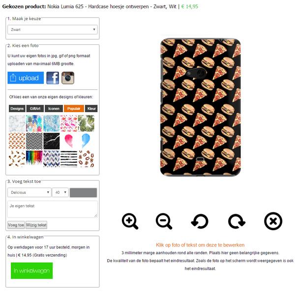 Lumia 625 hoesje ontwerpen