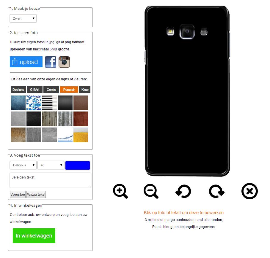 Galaxy A7 hoesje maken