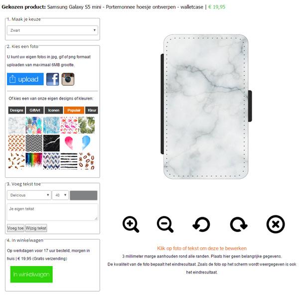 Galaxy S5 Mini wallet case hoesje met foto