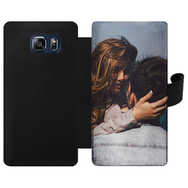Samsung Galaxy S6 Edge Plus portemonnee hoesje met foto