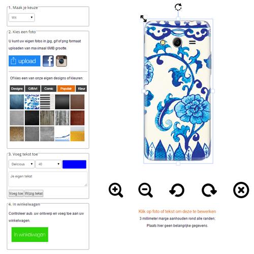 Samsung Galaxy Core 2 Hardcase hoesje ontwerpen zwart Wit of Transparant