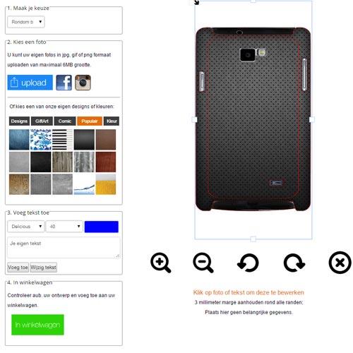 Samsung Galaxy S2 Hardcase hoesje ontwerpen zwart of wit