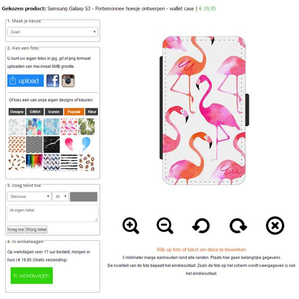 Samsung Galaxy S3 Portemonnee hoesje met foto