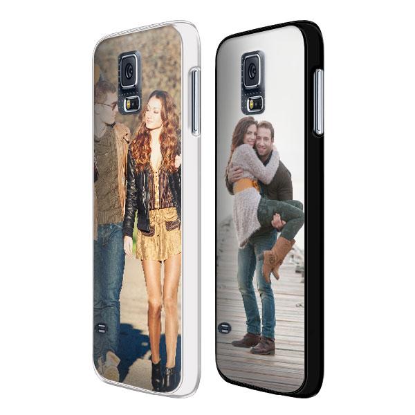 Samsung Galaxy S5 Softcase hoesje maken zwart of wit