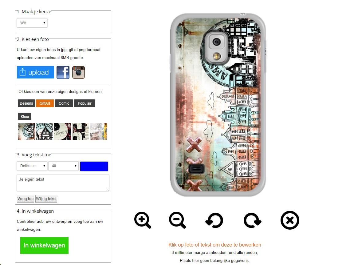 Samsung Galaxy S5 Mini hoesje ontwerpen