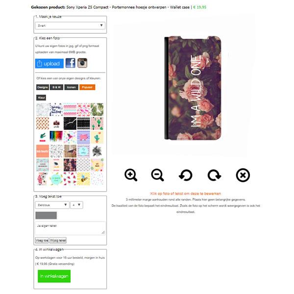 Sony Xperia Z5 Compact hoesje met foto