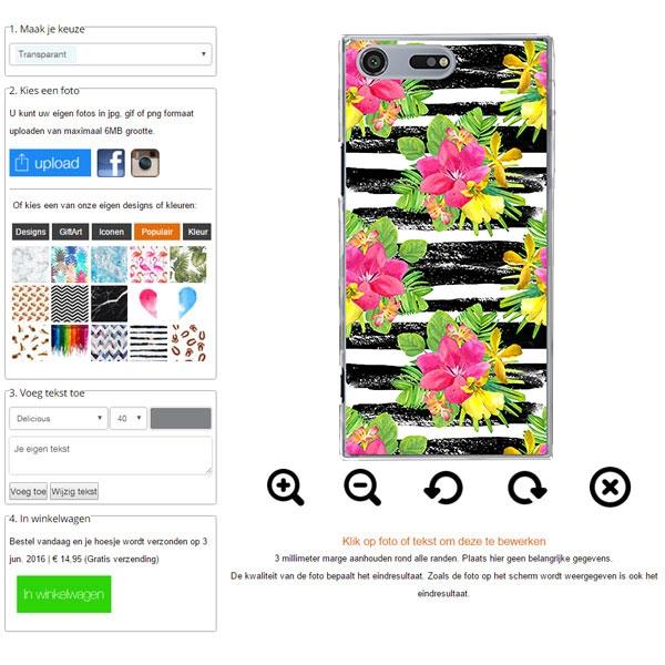 Xperia XZ Premium hoesje met foto