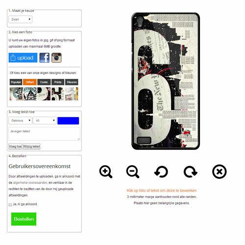 Huawei Ascend P6 softcase hoesje met foto