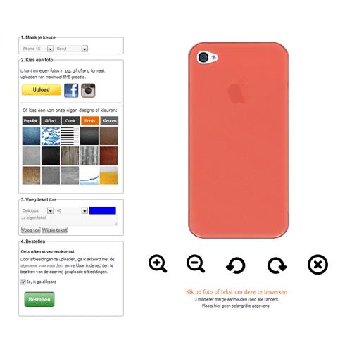 iPhone 4s hoesje ontwerpen